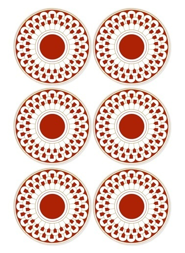 The Mia Pasta Tabağı 6 Parça Renkli